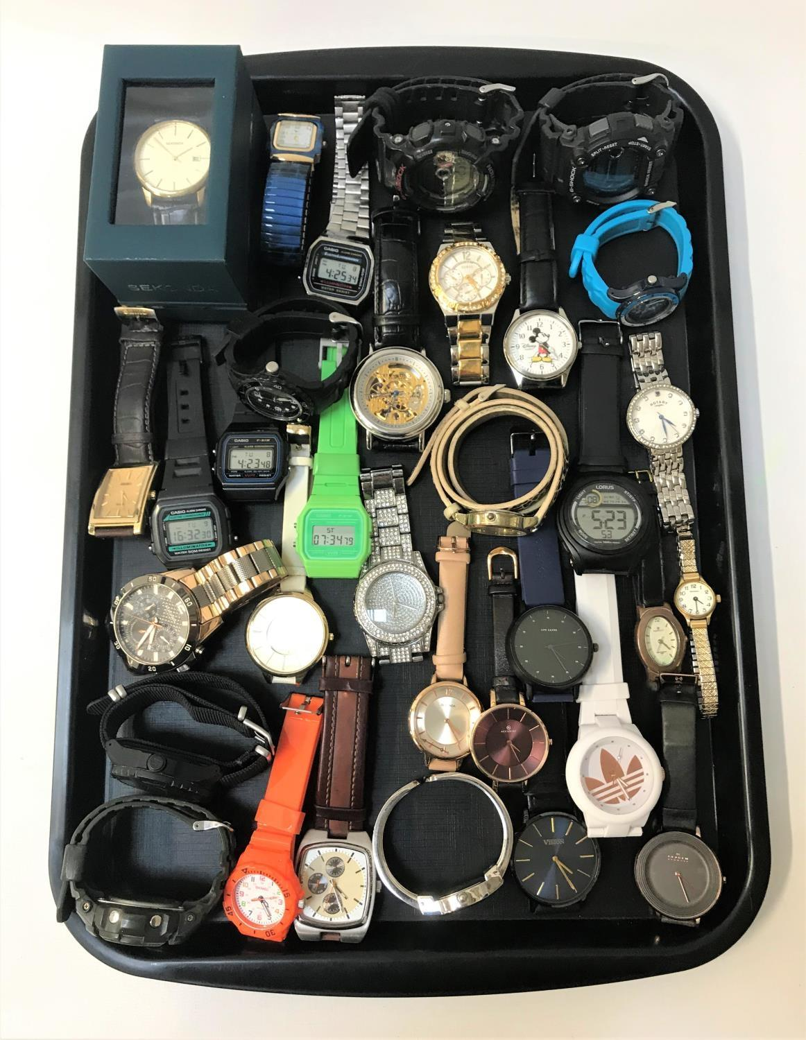 Lot 74 - SELECTION OF LADIES AND GENTLEMEN'S WRISTWATCHES including Sekonda (one new and boxed), Casio, G-