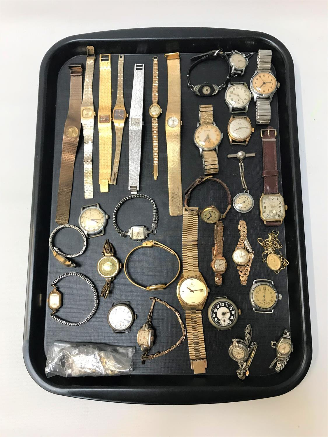 Lot 56 - SELECTION OF VINTAGE LADIES AND GENTLEMEN'S WATCHES including Smiths Empire 5 jewels, Atlantic 17