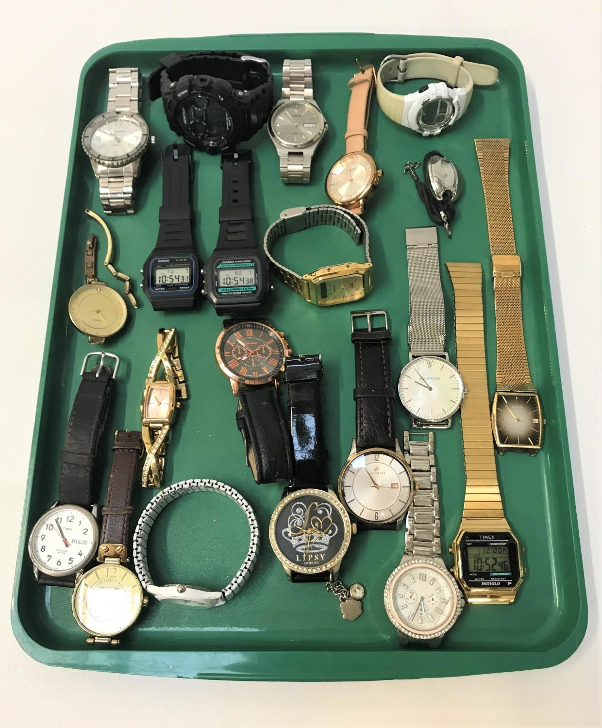 Lot 107 - SELECTION OF LADIES AND GENTLEMEN'S WRISTWATCHES including Lorus, Sekonda, Accurist, Casio, Timex,