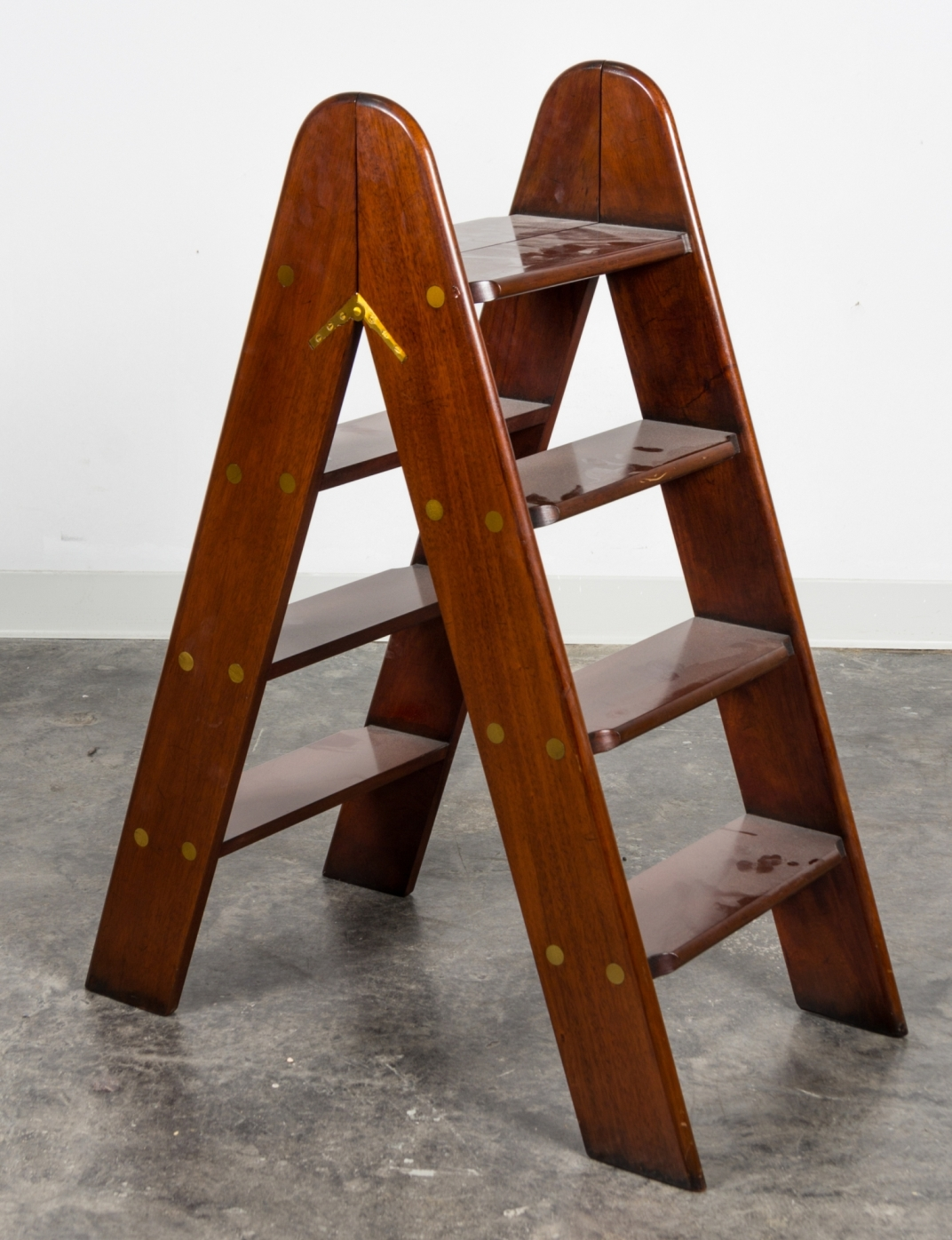 Wooden Library Steps Library Step Ladder An Important Set