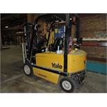 Yale electric forklift, sn D216A01405A, 3 stage, hrs. on meter NA.