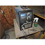 Millermatic 211 auto set with MVP wire welder, sn LK330831N.
