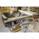 Powermatic tablesaw model 66, w/blade guard system, 5 hp., voltage 230/460.