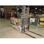 Cat forklift model EC25K, sn A3EC240259, 3 stage, side shift, hrs. on meter 8,987.