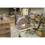 "Max 18"" disk sander, model 18SD, sn 94349, 460 volts, 1 1/2 hp.,"