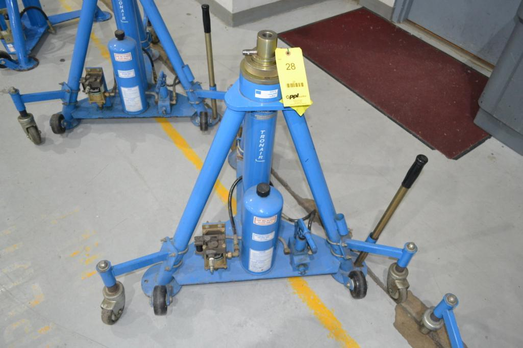 Tronair 20,000 lb. Portable Hydraulic Jack Model 02-1036-0100, S/N 1653209903