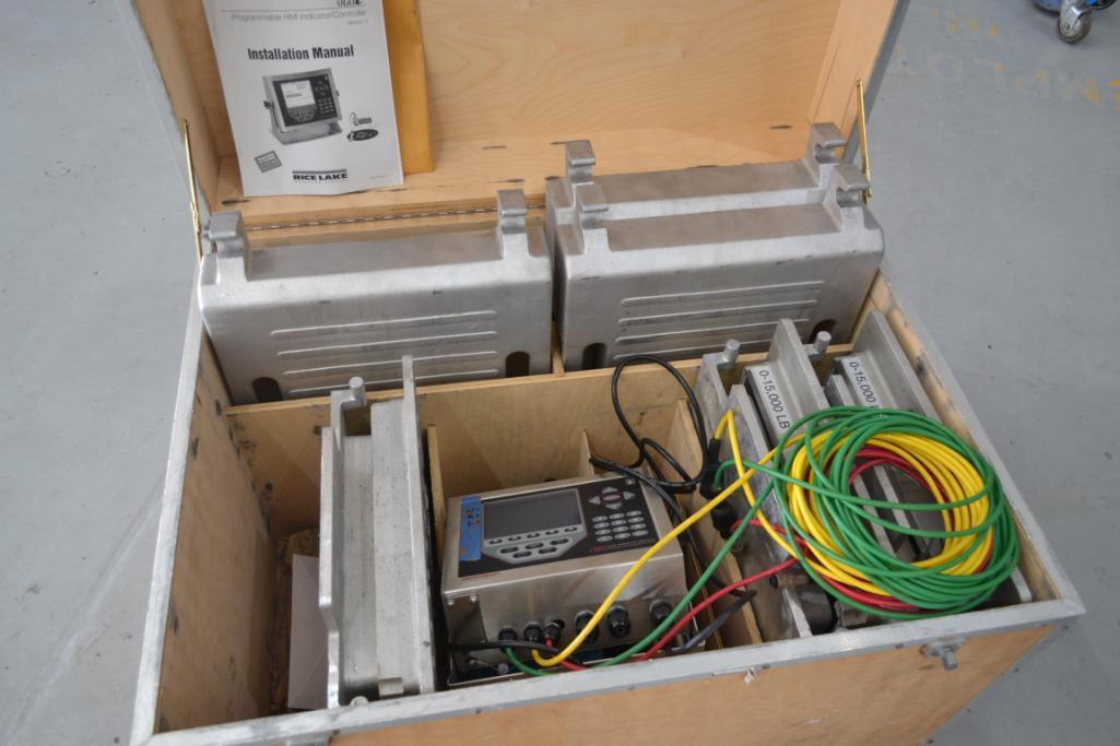 Rice Lake 45,000 lb. 3-Platform Digital Weighing System with Programmable HMI Indicator/
