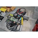 LOT: Assorted Electric & Pneumatic Power Tools & (2) Tool Boxes with Contents