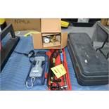 LOT: Assorted Hand Tools, Scale, Victor Torch Gauge, Craftsman 2-1/4 Ton Floor Jack in Case