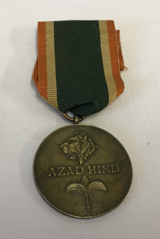 "Lot 138 - A German WWII Azad Hind ""Brave Indian"" medal."