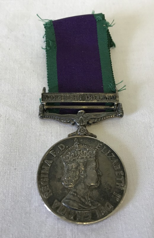 Lot 114 - A Campaign Service medal with clasp for Northern Ireland.
