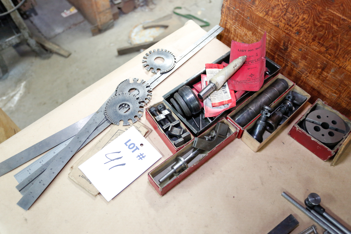Lotto 41 - LOT OF MISC. TOOLROOM MEASURING TOOLS