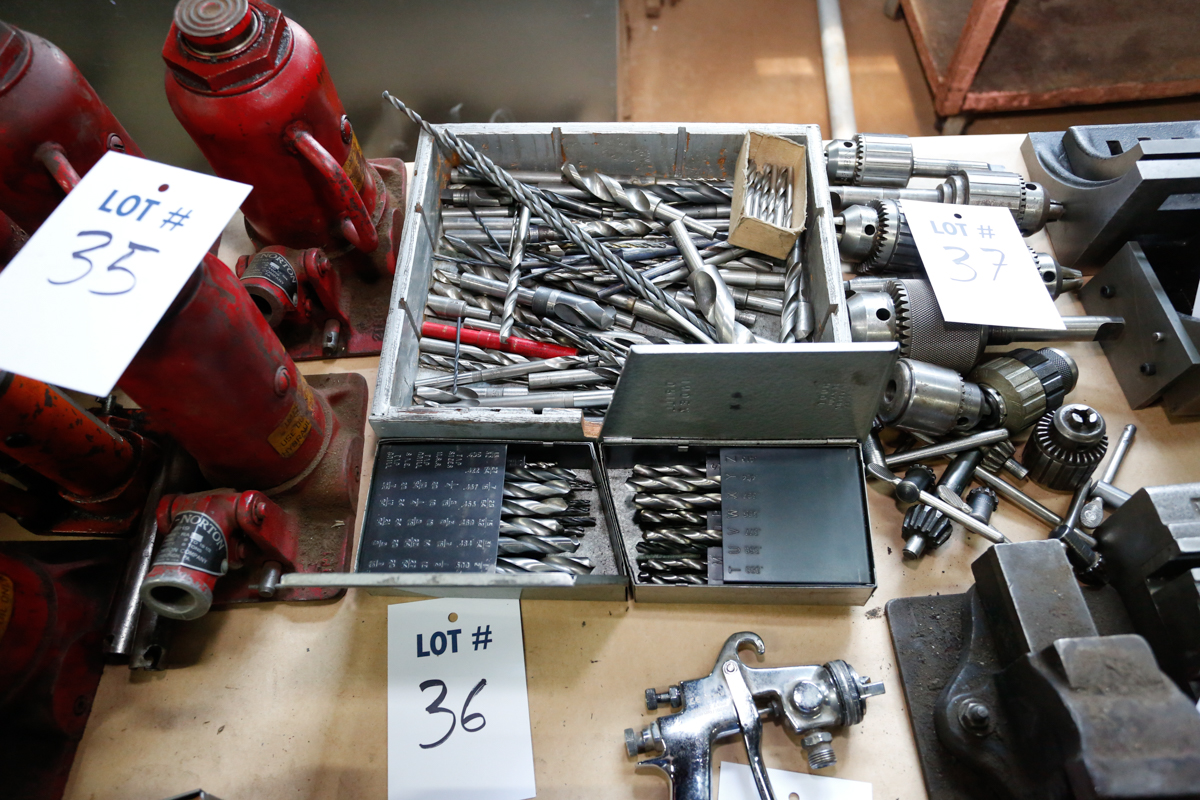 Lotto 36 - 5 BOXES OF DRILL BITS & CUTTING TOOLS