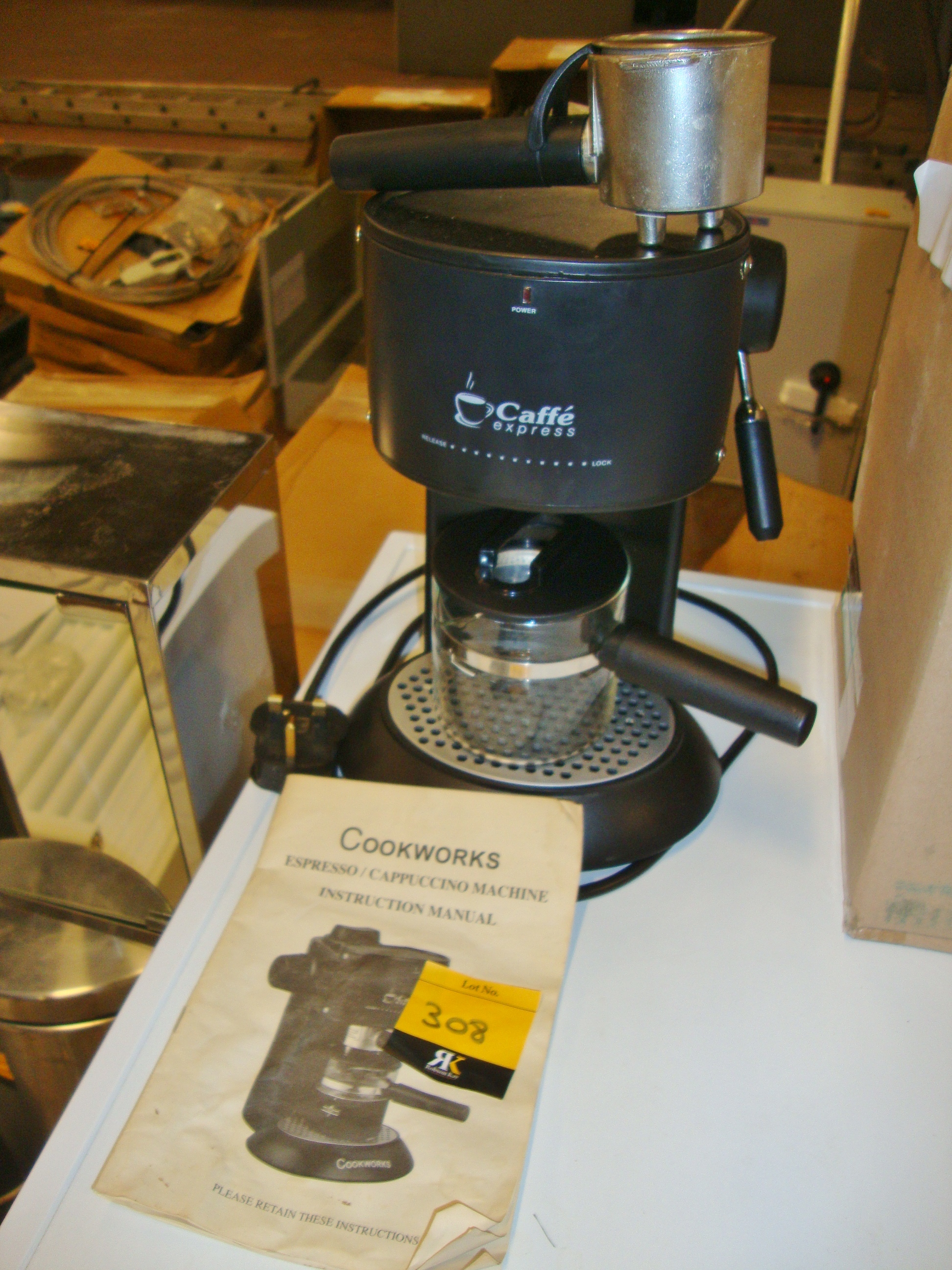 Cookworks Café Express Coffee Machine With Manual
