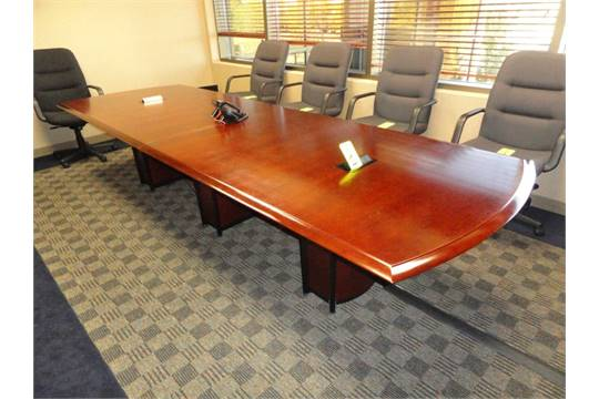 Nucraft Cherry Veneer Conference Table X Door On Legs To - Cherry conference room table
