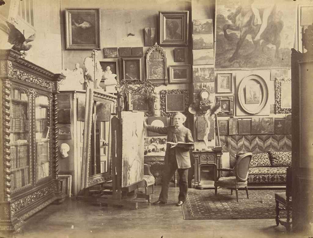 Lot 101 - EDMOND BÉNARD (PARIS 1838-1907 ?) Le peintre Félix-Henri Giacomotti dans son atelier, 1880-1900