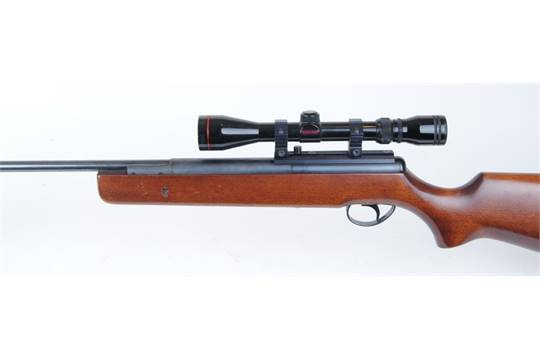 22 BSA break barrel, pump up air rifle (a/f) with silencer