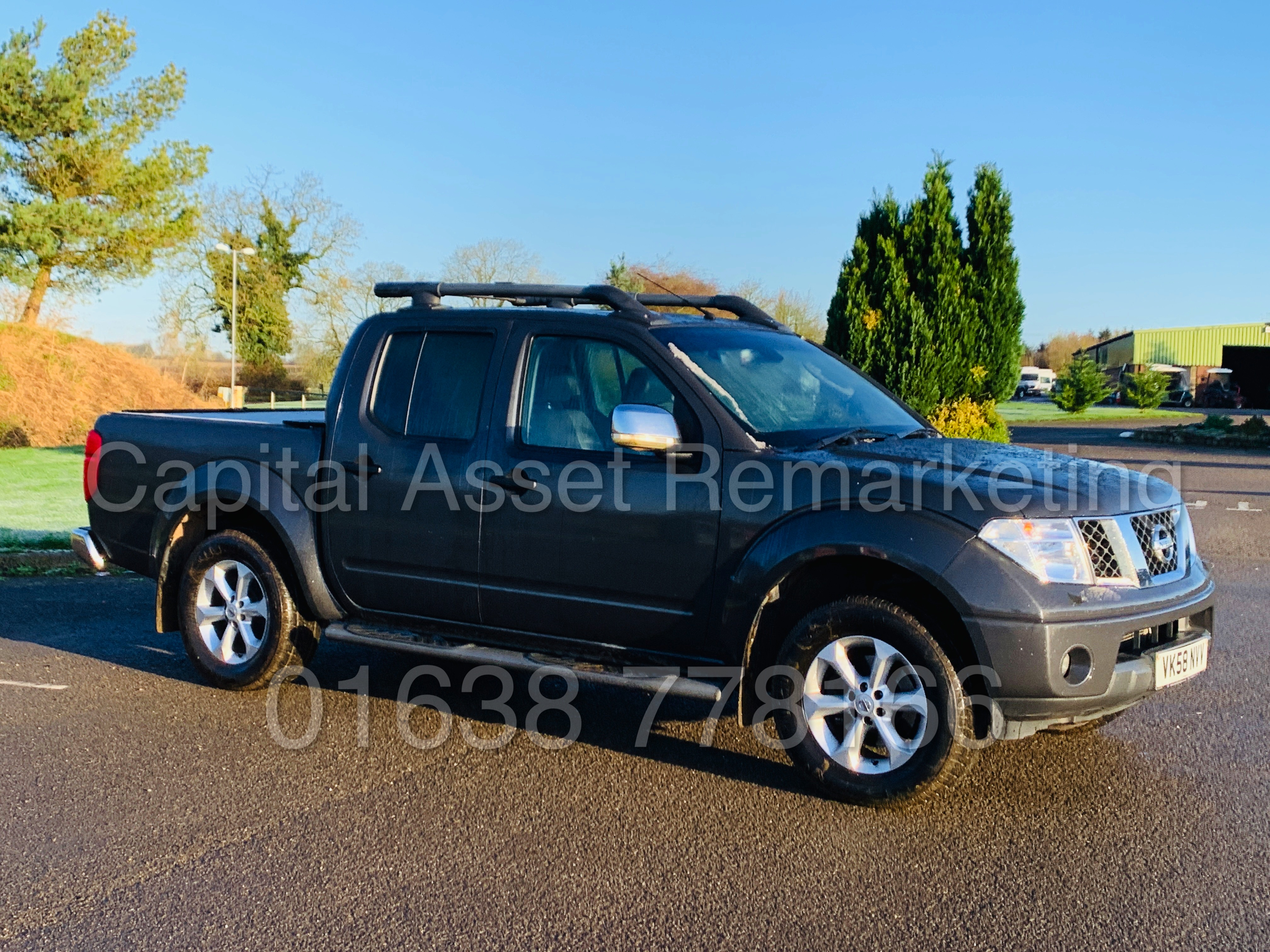 NISSAN NAVARA *OUTLAW* DOUBLE CAB PICK-UP *4X4* (2009) '2.5 DCI-171 BHP- 6 SPEED' *AIR CON* (NO VAT)