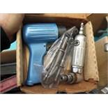 LOT CONSISTING OF: pneu. spray paint gun, pneu. grease gun, manual grease gun, pneu. pipe grinder,