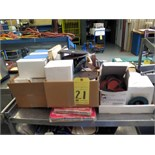 LOT CONSISTING OF: abrasive disks, sanding belts & grinding wheels  (in three boxes)