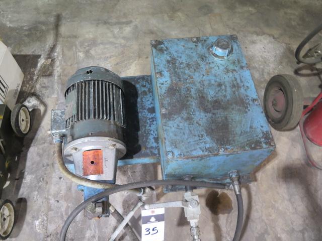 Lot 35 - Fluid Pump and Tank