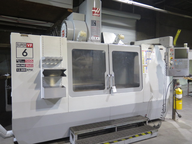 Lot 47 - 2008 Haas VF-6SS 5-Axis CNC Vertical Machining Center s/n 1066904 w/ Haas Controls, 24-Station