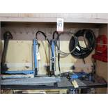 LOT - CONTENTS OF 2-DOOR SECTION OF LARGE STEEL CABINET TO INCLUDE: (6) HYDRAULIC POWER UNITS AND