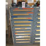 STANLEY VIDMAR 11-DRAWER PARTS/TOOL CABINET, W/ CONTENTS TO INCLUDE: TAPS, TOOLING, TOOLS, WELDING