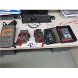 LOT - MISC TEST EQUIPMENT: ELECTRONIC STETHOSCOPE, AMPROBE ACDC-600AT, (2) EXTECH 380360