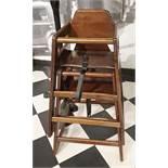 3 x Children's Wooden Highchairs - Ref PA132 - CL463 - Location: Newbury RG14