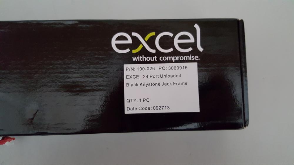 Lot 3680 - 1 x Excel 24 port 1U Unloaded Black Keystone Frame - Ref RC108 - CL011 - Location: Altrincham WA14 <