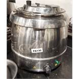 1 x Buffalo Stainless Steel Soup Kettle - 240v - Ref PA130 - CL463 - Location: Newbury RG14