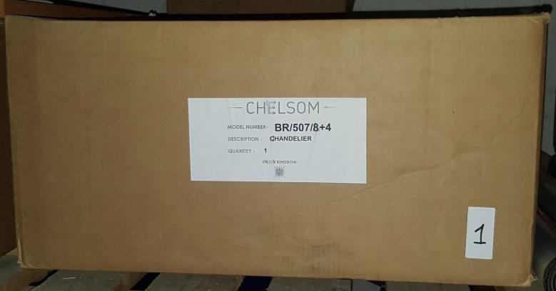 Lot 8027 - 1 x New In Box Chelsom Ballroom Сhandelier BR/507/8+4 - CL001 - REF289/A31 - Location: Altrincham