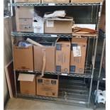 1 x Chrome Three Tier Wire Shelf Unit With Contents- Ref PA231 - CL463 - Location: Newbury RG31