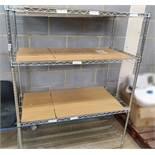 1 x Chrome Wire Shelving Unit - Ref PA238 - CL463 - Location: Newbury RG38