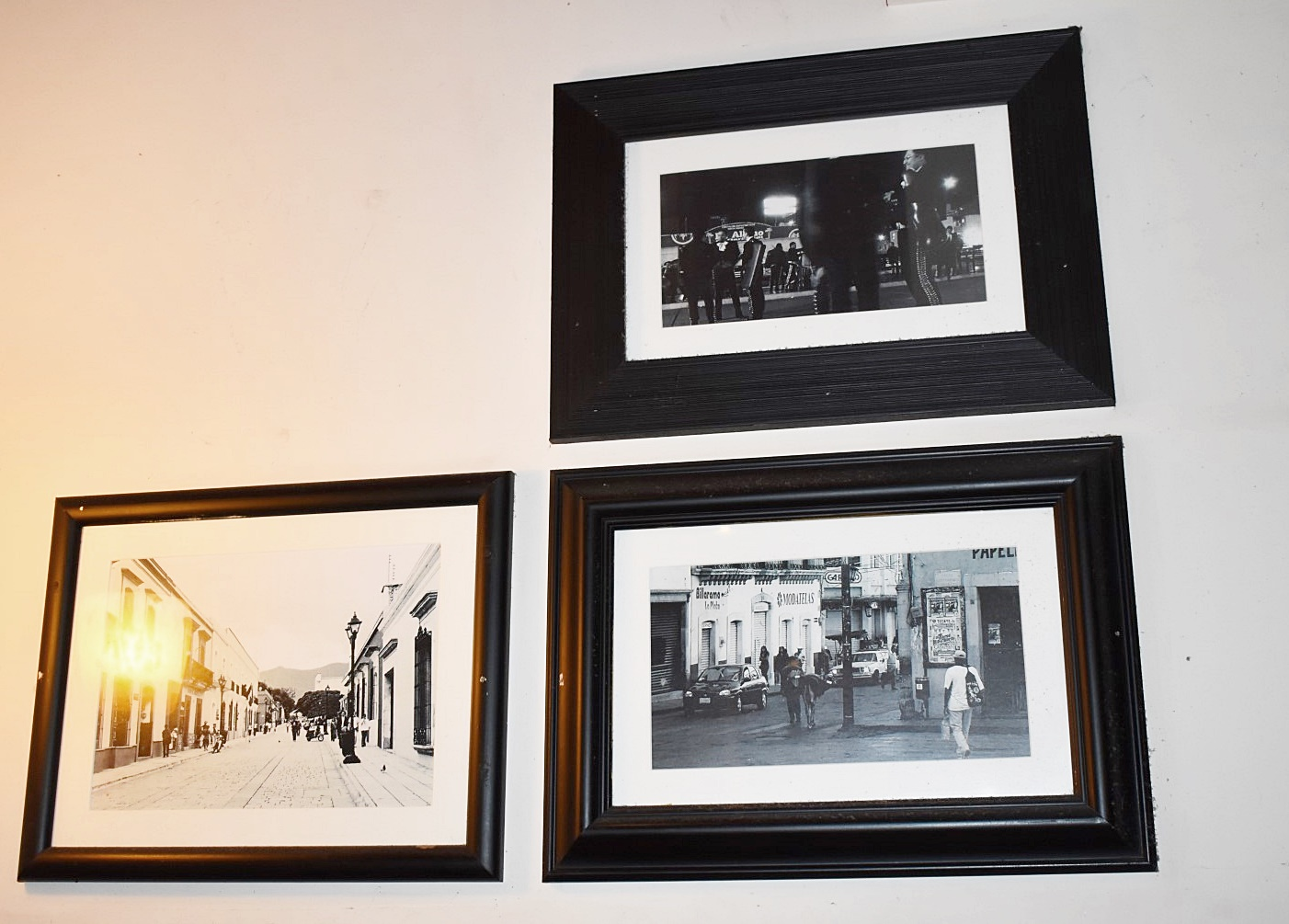 Lot 1338 - 30 x Assorted Pictures in Black Frames - Pictures Will Be Picked at Random From The Selection
