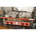 1 x Ital Double Contact Panini Grill With Stainless Steel Exterior - Model CCG2/FR - 240v Ref