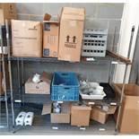 1 x Three Tier Wire Shelf Unit With Contents- Ref PA232 - CL463 - Location: Newbury RG32