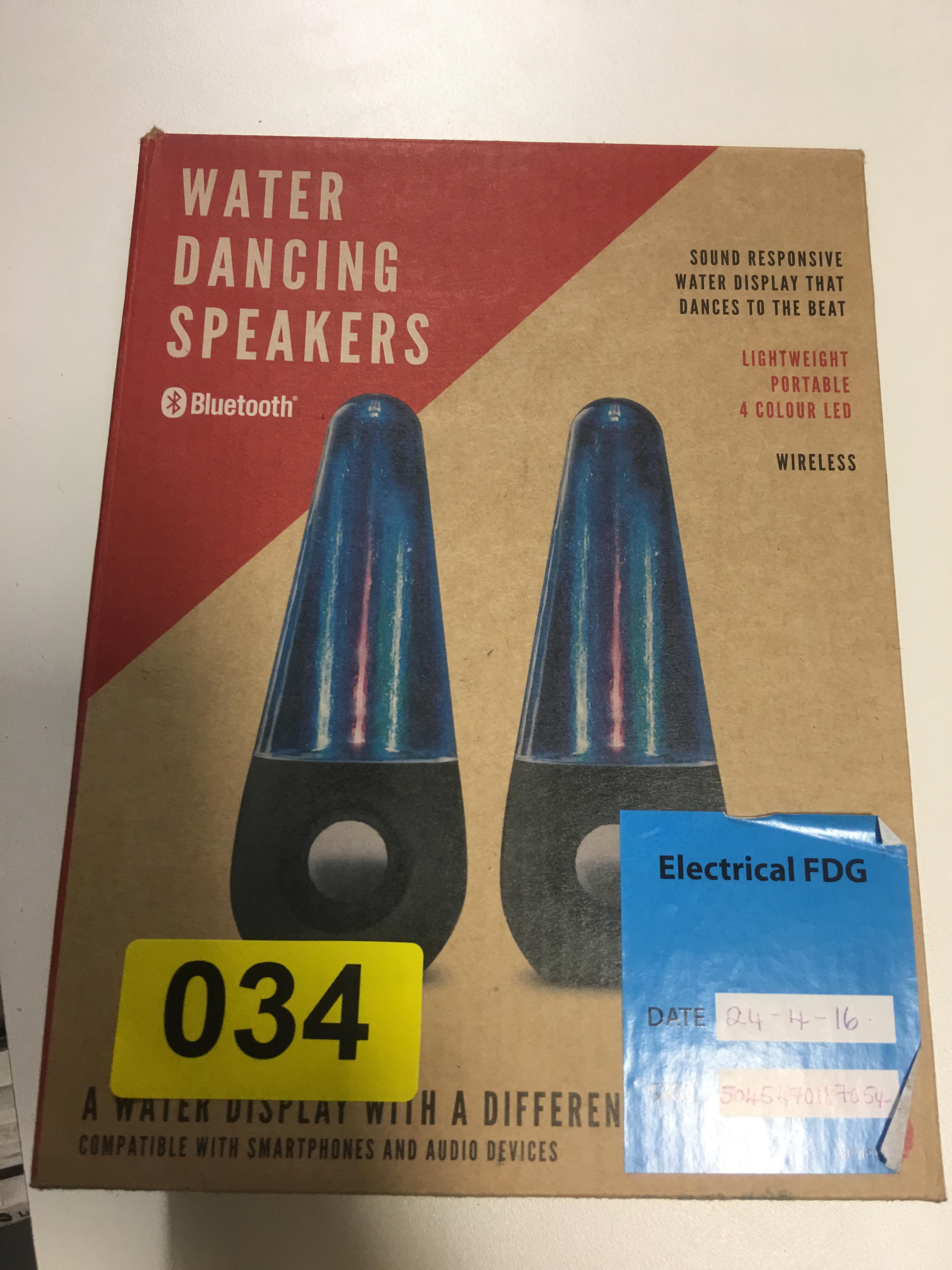 Lot 53 - Water Dancing Speakers - Y34