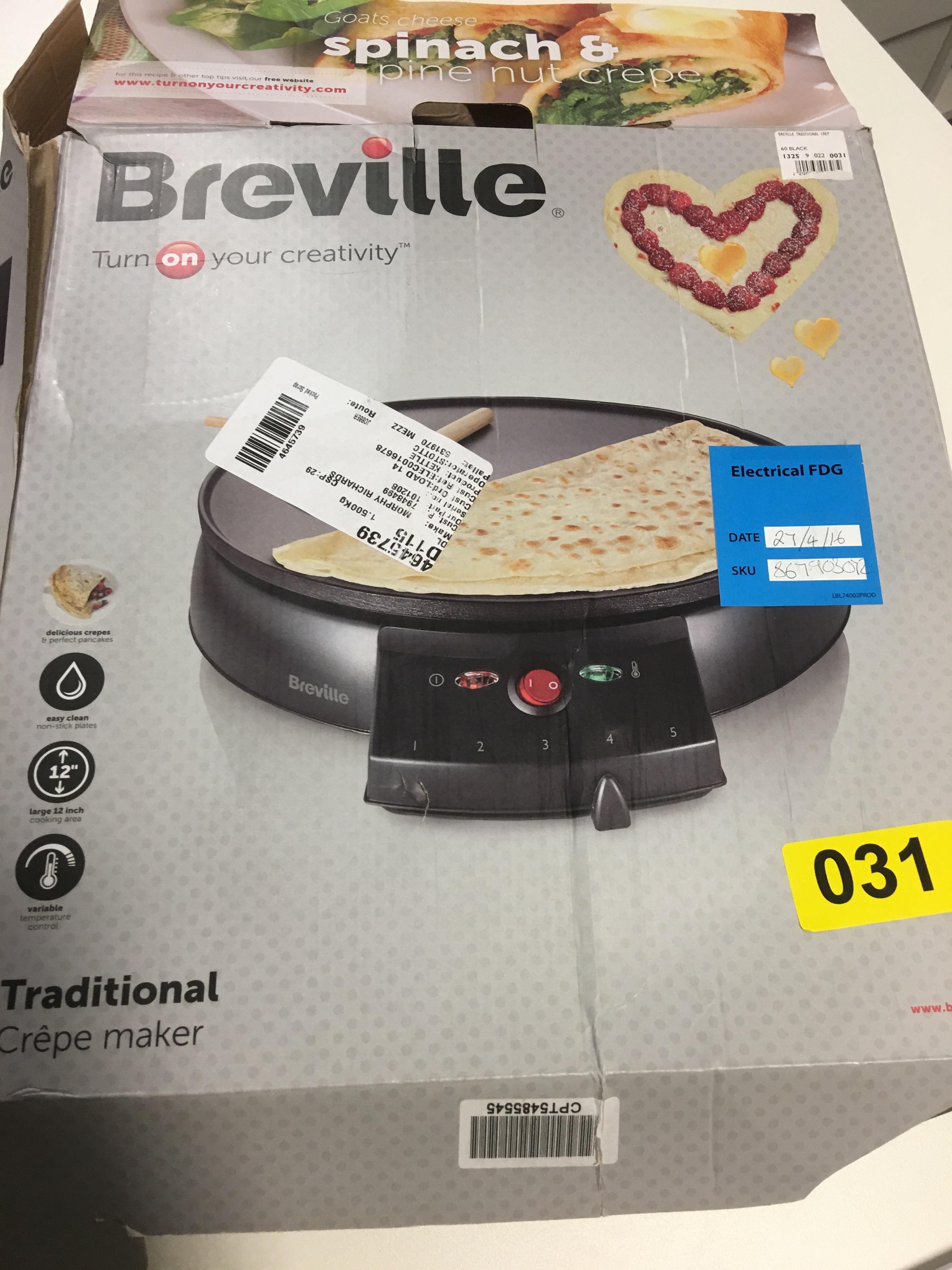 Lot 50 - Breville Crepe Maker - Y31