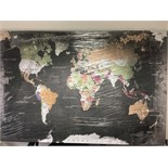 Lot 12 - World Map XL Canvas - Y5