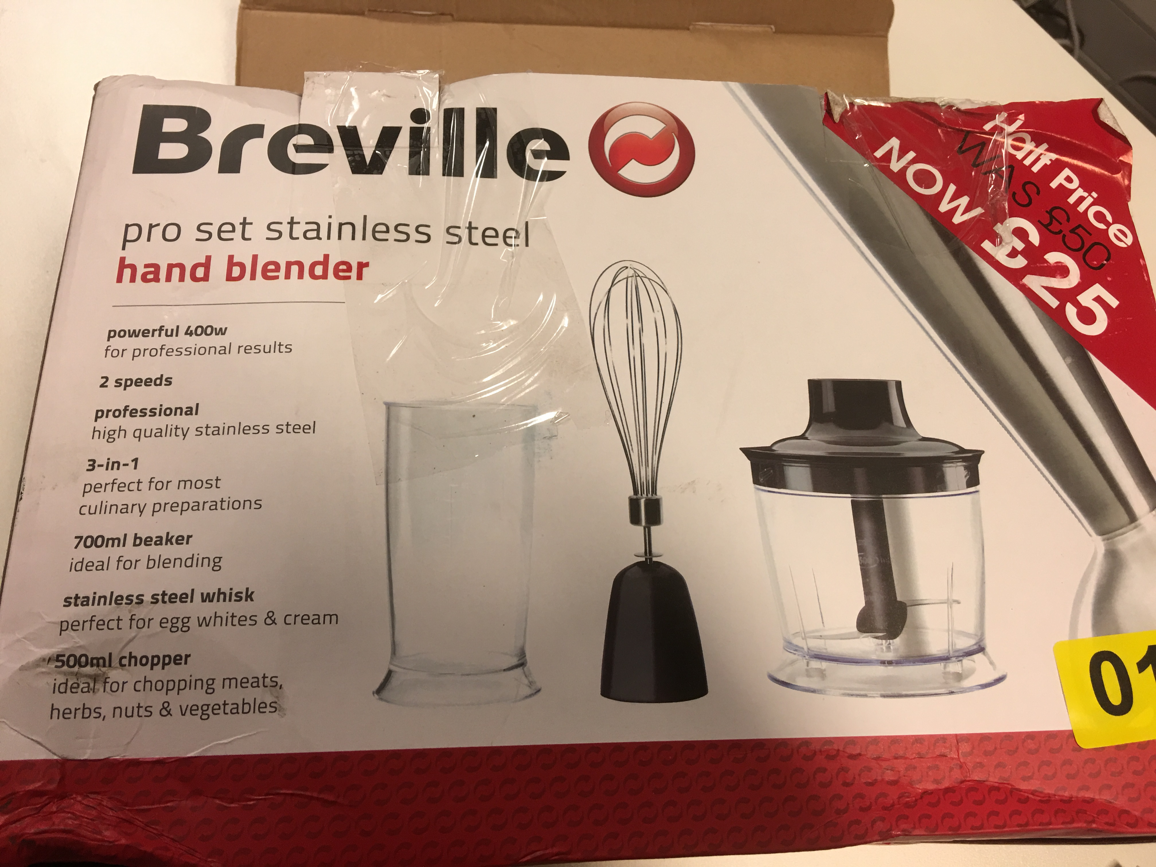 Lot 35 - Breville Stainless Steel Hand Blender - Y18
