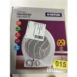 Lot 26 - Status Fan Heater - Y15