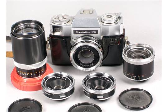 Zeiss Ikon Contaflex 126 SLR Cameras  One with Color-Pantar