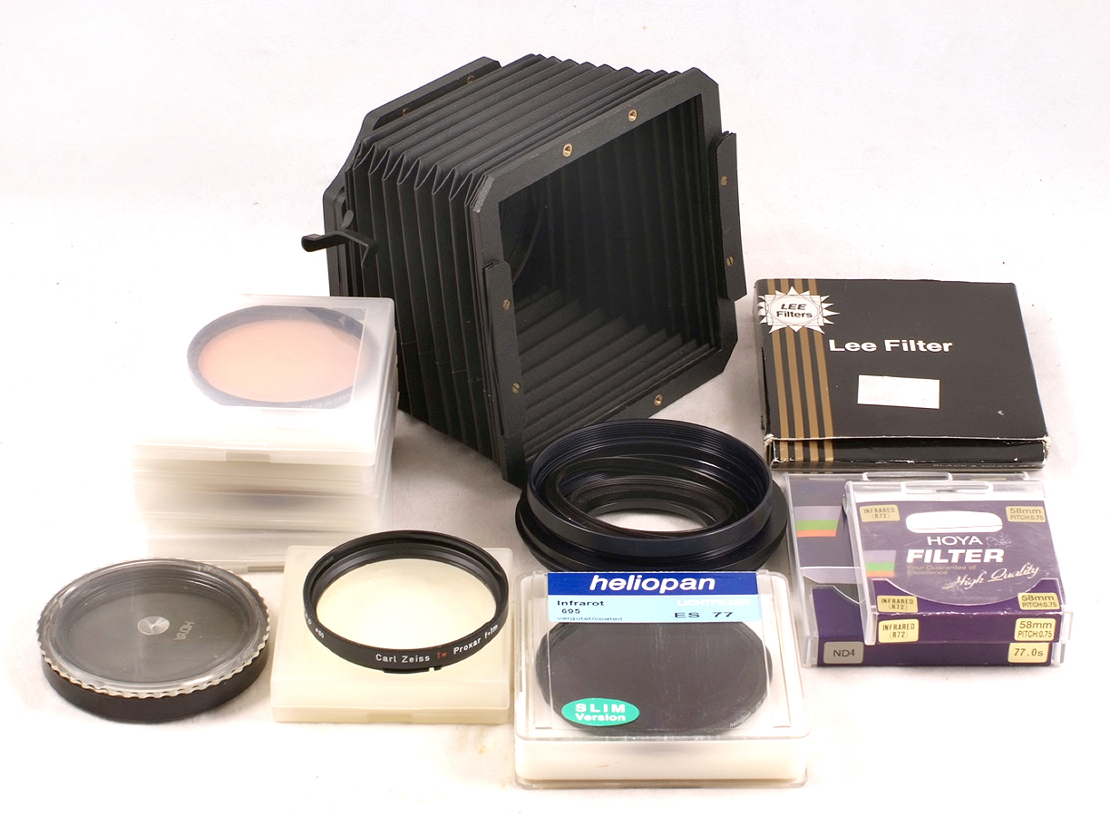 Lee & Other Filters & Accessories for Hasselblad. To include Lee bellows  lens hood with B60 & oth