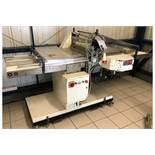 JC Custance Cresta Automatic Bun Slicing Machine on Mobile Base - 3 Phase