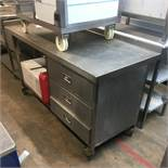 Mobile Stainless Steel Preparation Table w/ 3 Drawers & Undershelf