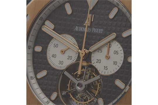 ca8140d5e9c Audemars Piguet Royal Oak XL Tourbillon Chronograph 44mm 18K Rose ...