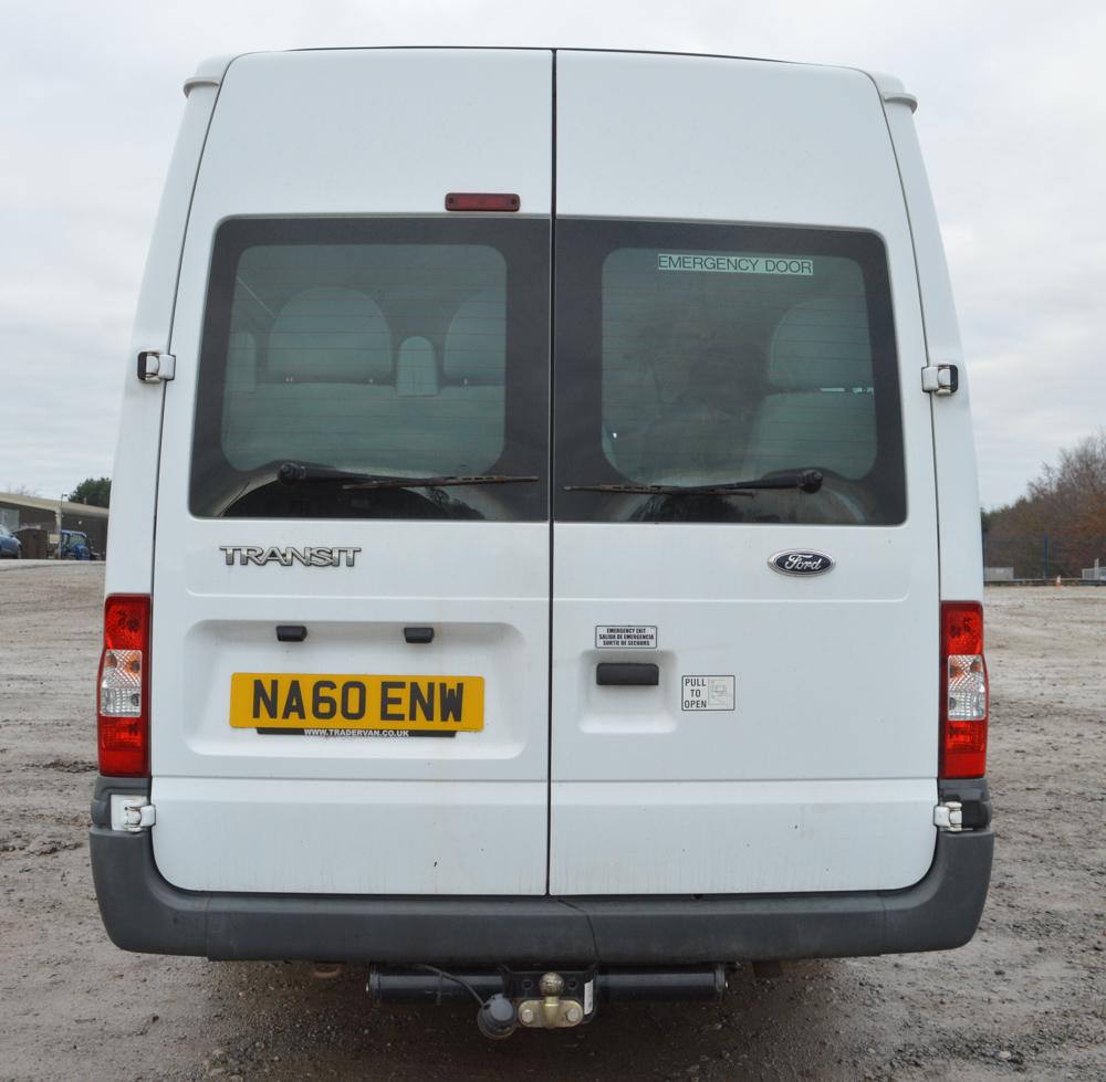 10 Ford Transit 15str Minibus: Ford Transit 16 Seater Minibus Registration Number: NA60