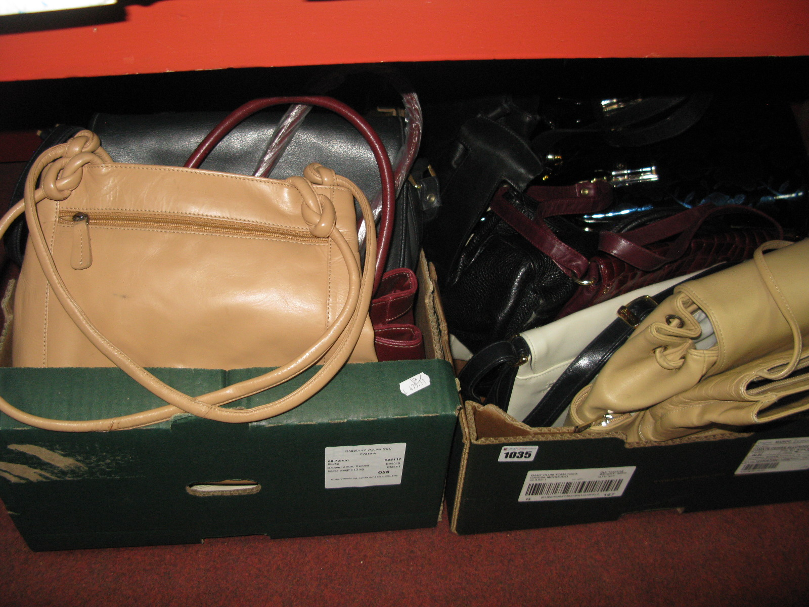 Lot 1035 - Ladies Leather and Other Handbags:- Two Boxes